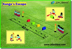 atletik kit, gawang lari anak, Kanga's Escape, kid atletik, kids athletics, peralatan atletik kid, peralatan olahraga anak, perlombaan lari anak, sport kid, Sprint / Hurdles Shuttle Relay